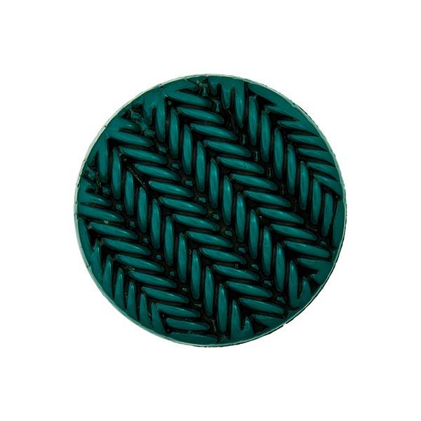Ösenknopf Strick - dunkelgrün