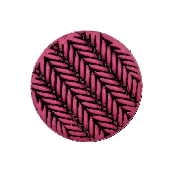 Ösenknopf Strick - pink