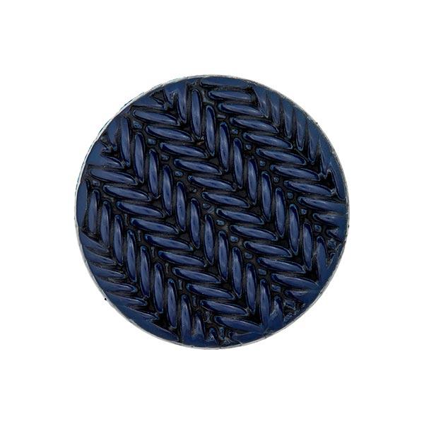 Ösenknopf Strick - marineblau