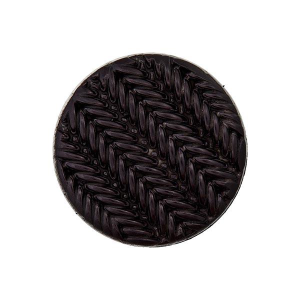 Ösenknopf Strick - schwarz