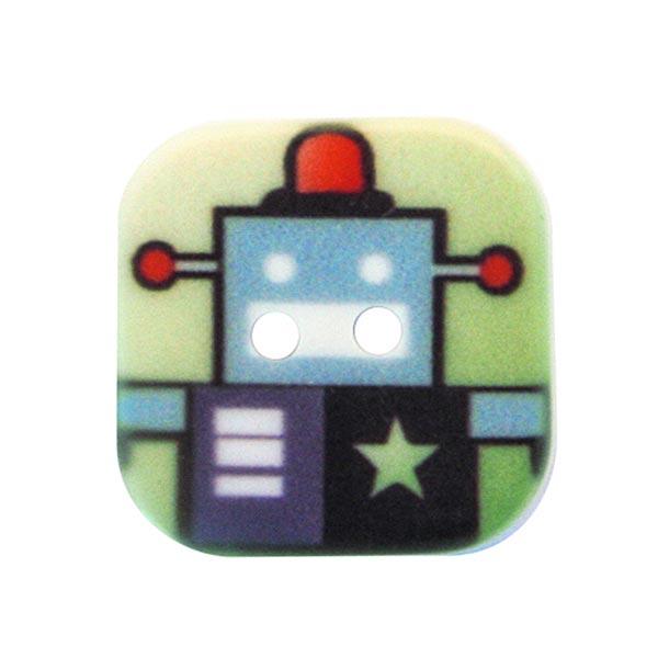 Polyesterknopf Roboter [6 x 6 cm] 1