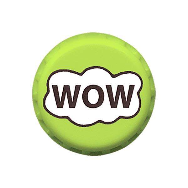Polyesterknopf WOW 2 - grün