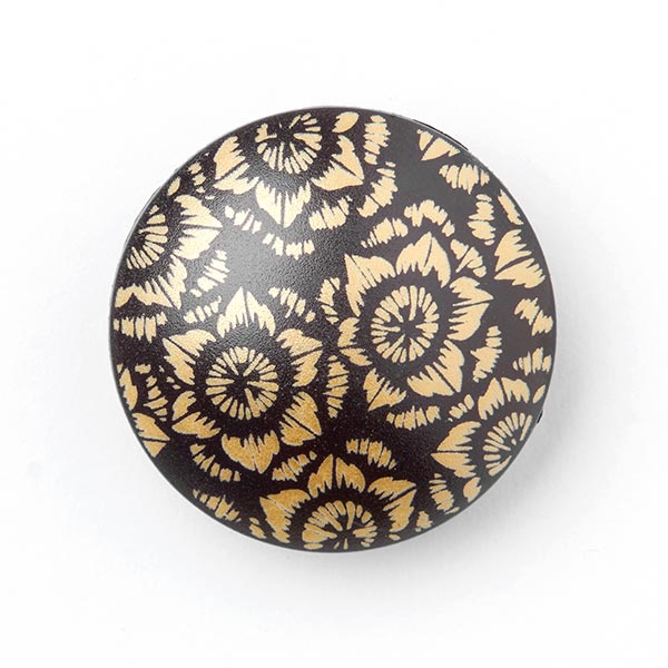 Mantelknopf FLORI GOLD - schwarz/gold