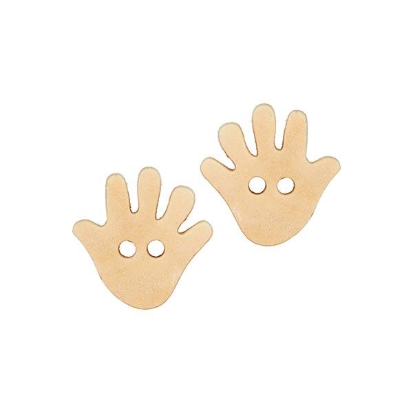 2-Loch-Holzknopf als Hand