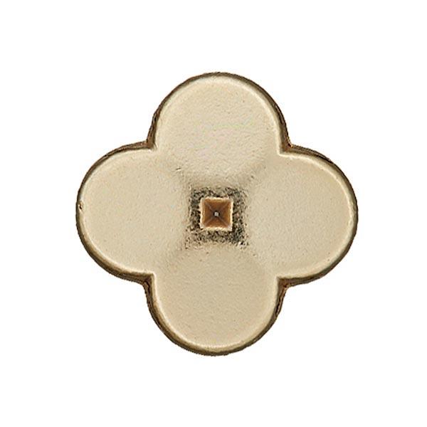 Goldfarbener Metall-Blumenknopf