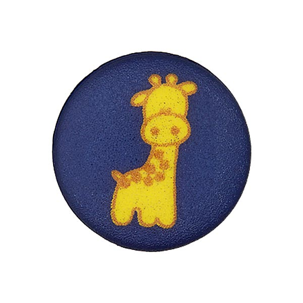 Polyesterknopf in Marineblau mit Giraffe