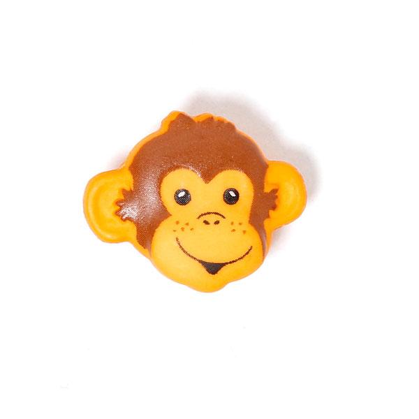 Affenköpfchen als Kunststoffknopf