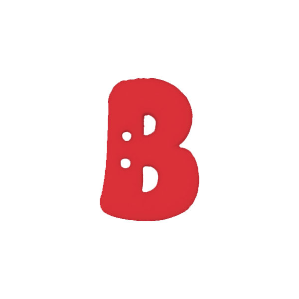 Buchstabenknopf 'B'