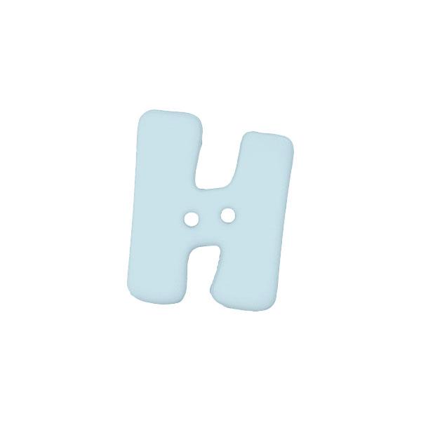 Buchstabenknopf, H