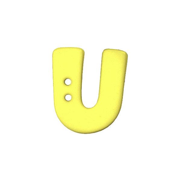 Buchstabenknopf, U