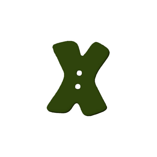 Buchstabenknopf, X