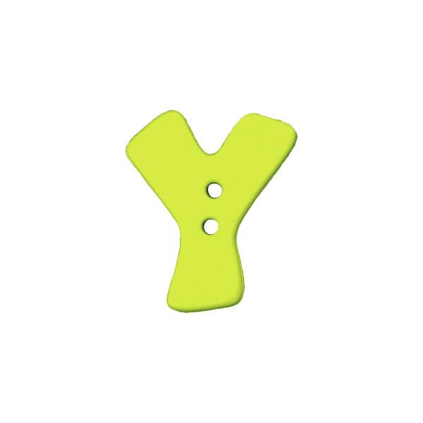 Buchstabenknopf, Y