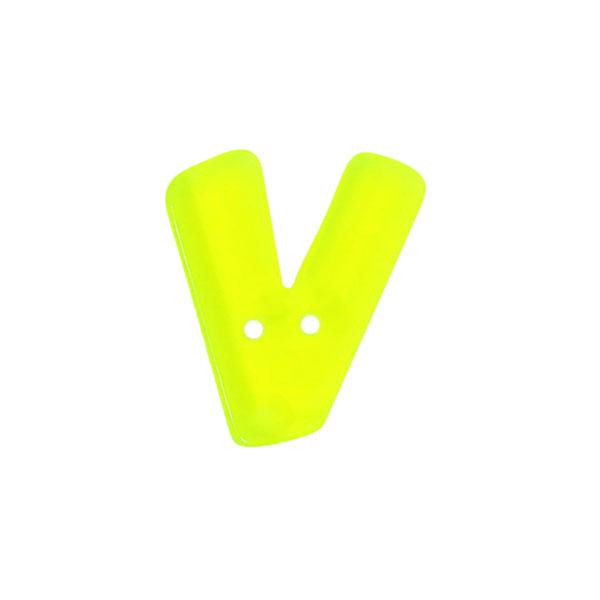 Buchstabenknopf Neon – V