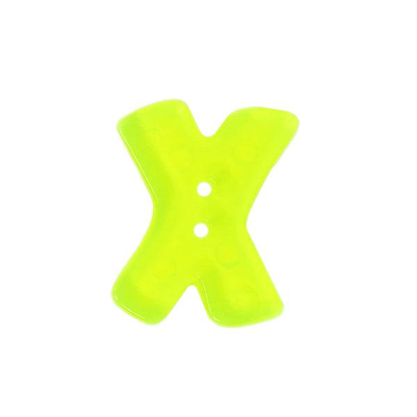 Buchstabenknopf Neon – X