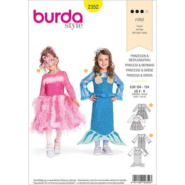 Prinzessin   Meerjungfrau, Burda 2352   104 - 134 - Schnittmuster ...
