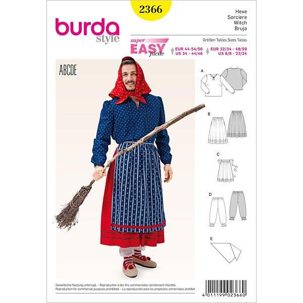 Hexe, Burda 2366