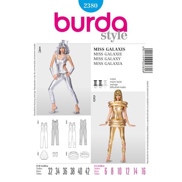 Miss Galaxy Overall, Burda 2380 - Patrones de corte Carnaval- telas.es