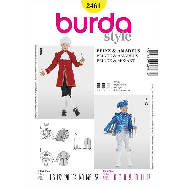 Prinz / Amadeus, Burda 2461