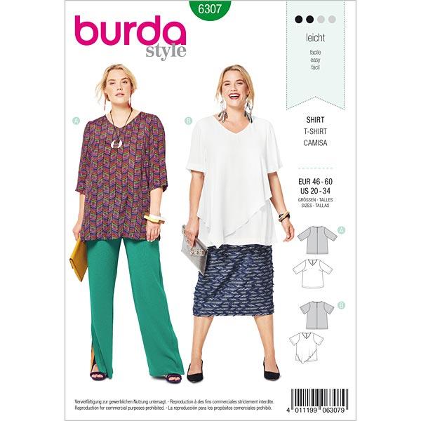 50168b3e59eb Bluströja, Burda 6307 | 46 - 60 - Mönster Plus Size- tyg.se