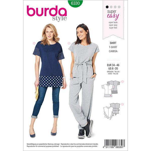 Shirt Burda 6330 34 46 Tops Blouses Sewing Patternsfavorable Ing At Our