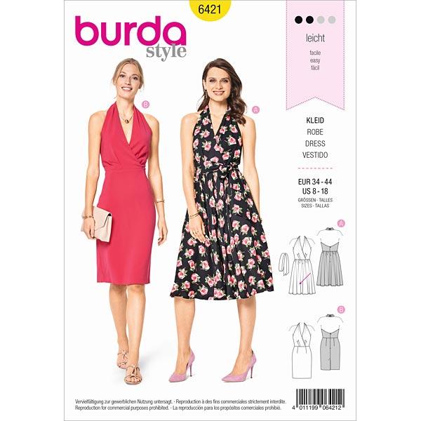Vestidos con cuello halter   Vestido de cóctel, Burda 6421   34 - 44 ...