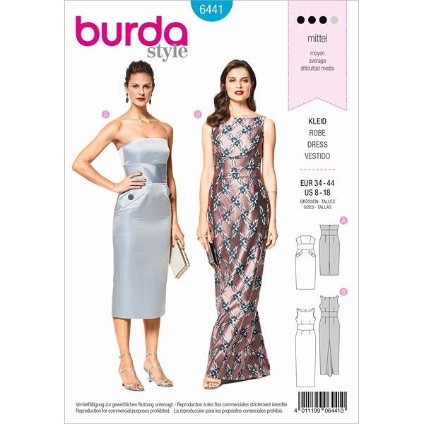Corsagenkleid | Abendkleid , Burda 6441 | 34 - 44 - Schnittmuster ...