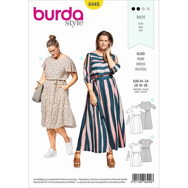 Plus Size - Sommerkleid, Burda 6449 | 44 - 54 - Schnittmuster Kleid ...