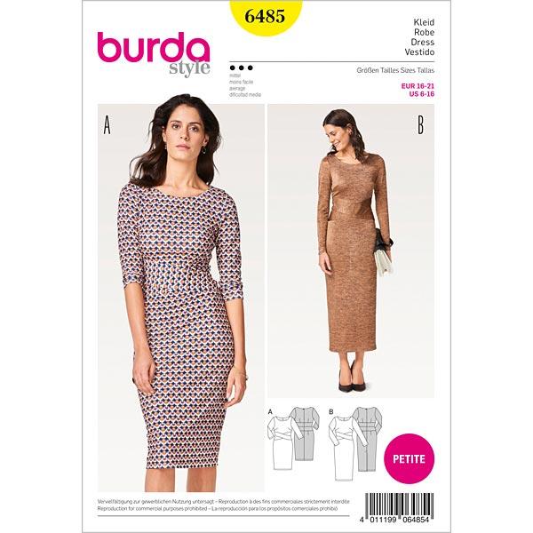 Etuikleid, Burda 6485 | 16 - 21 - Schnittmuster Kleid- stoffe.de