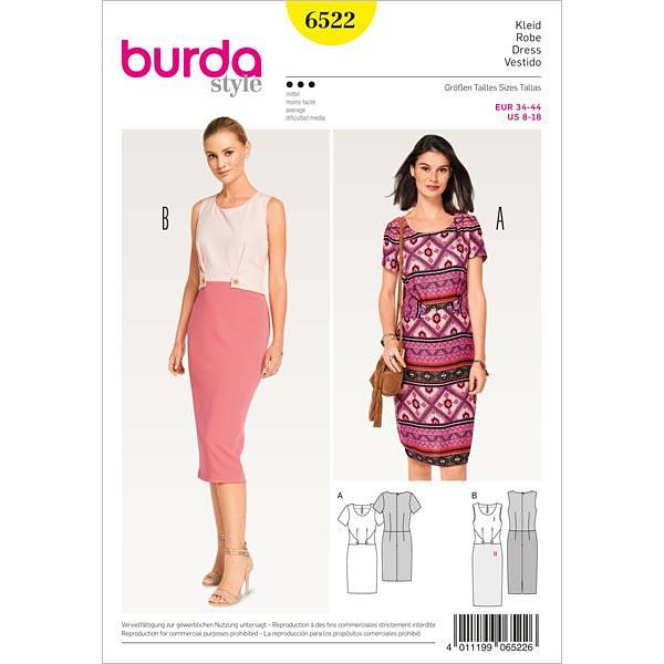 Kleid | Etuikleid, Burda 6522 | 34 - 44 - Schnittmuster Abendmode ...