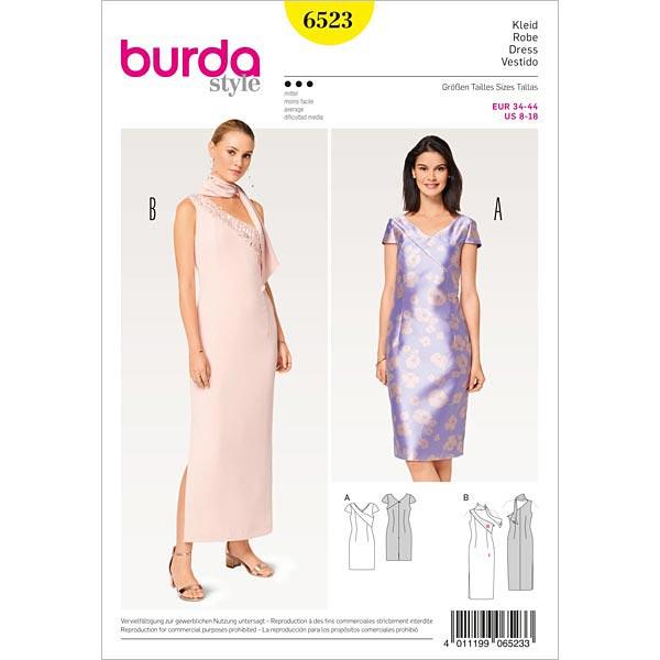 Abendkleid, Burda 6523 | 34 - 44 - Schnittmuster Abendmode- stoffe.de