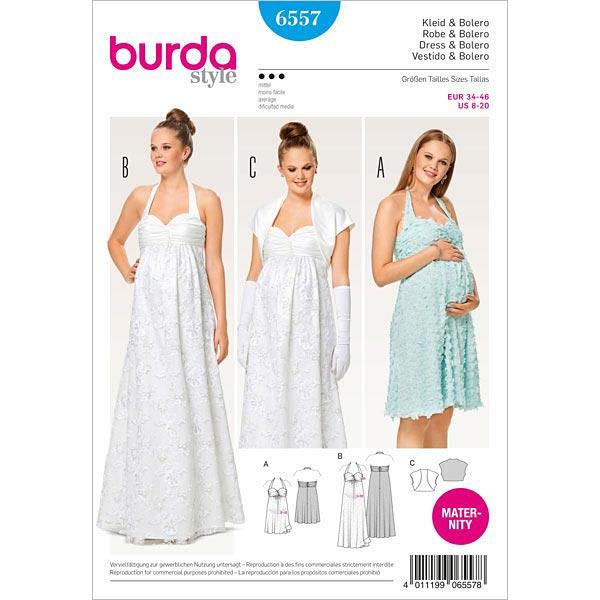 Sukienka Ciążowa Suknia ślubna Bolerko Burda Wykroje
