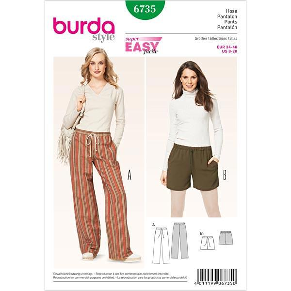 Hose, Burda 6735