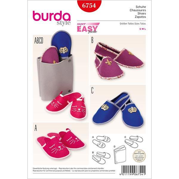 Pantuflas, Burda 6754 - Patrones Burda fácilesfavorable buying at our