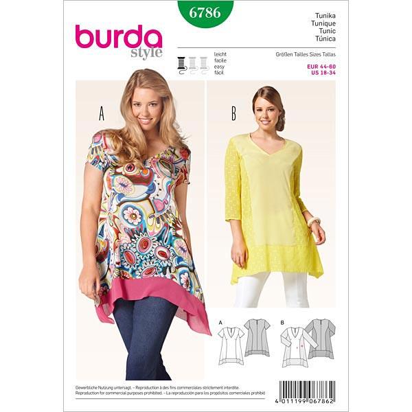 Tunika, Burda 6786 | 44 - 60 - Schnittmuster Plus Size- stoffe.de