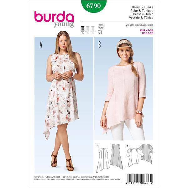 Kleid | Tunika, Burda 6790 | 42 - 54 - Schnittmuster Plus Size ...
