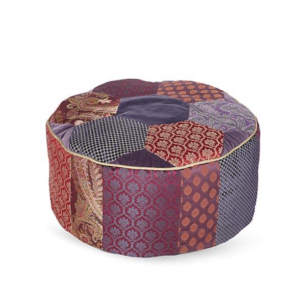 pouf sitzkissen nackenrolle burda 6881 paspelband baumwolle. Black Bedroom Furniture Sets. Home Design Ideas