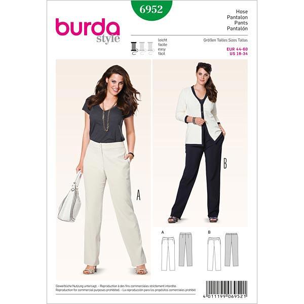 Hose mit Gummizug, Burda 6952 | 44 - 60 - Schnittmuster Plus Size ...