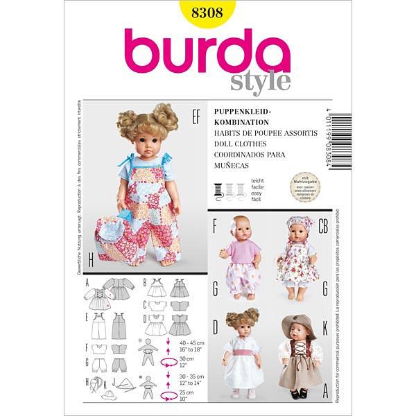 Vorlagen für Puppenkleider von Burda