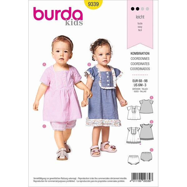 Baby-Kleid | Höschen, Burda 9339 | 68 - 98 - Schnittmuster Baby ...