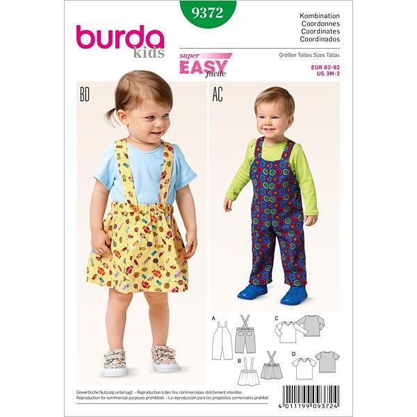Baby-Kombination, Burda 9372 | 62 - 92 - Schnittmuster Baby- stoffe.de