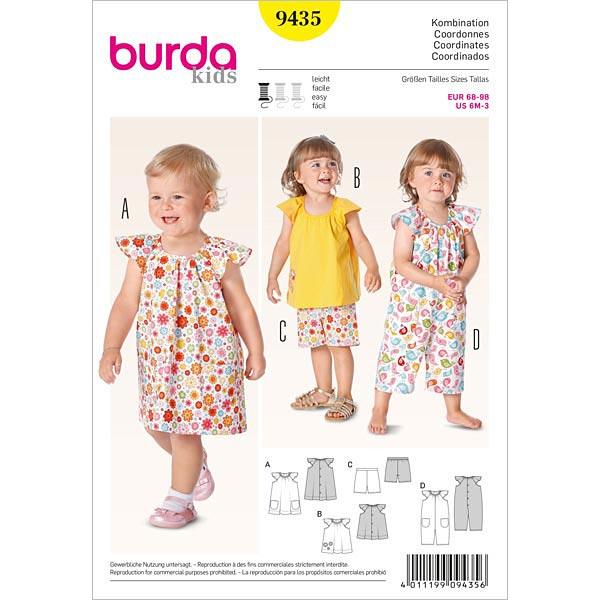 Babykleid | Top | Hose | Overall, Burda 9435 | 68 - 98 ...