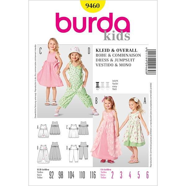 Kinderkleid / Überrock / Overall, Burda 9460