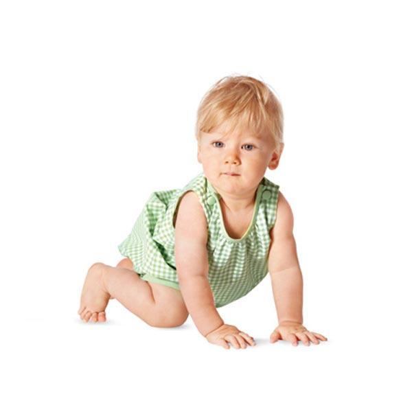 baby overall kleid h schen burda 9462 56 80 schnittmuster baby. Black Bedroom Furniture Sets. Home Design Ideas