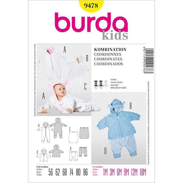 Baby Overall | Jacke | Fußsack | Hose, Burda 9478 | 56 - 86 ...