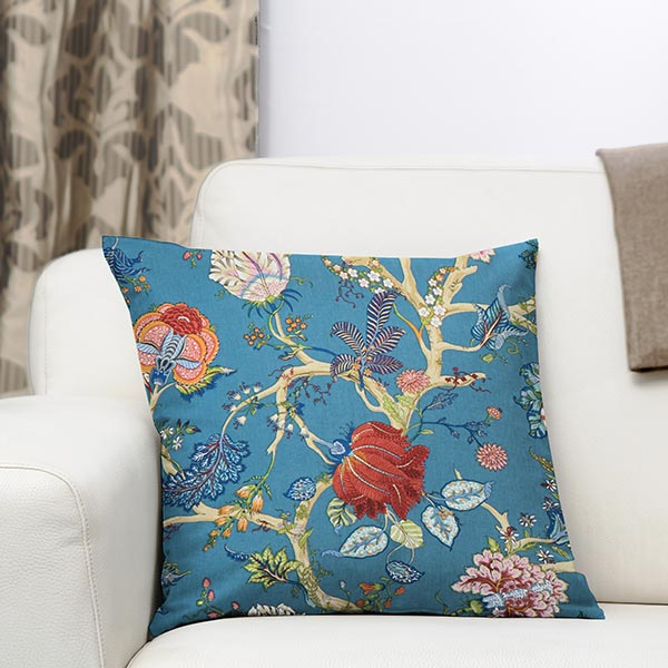 tissu en coton deco ceylan 33 bleu turquoise tissus en coton. Black Bedroom Furniture Sets. Home Design Ideas