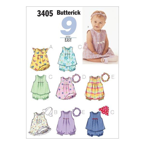 Babykleding 80.Babykleding Butterick 3405 74 80 Naaipatronen Baby Stoffen Net