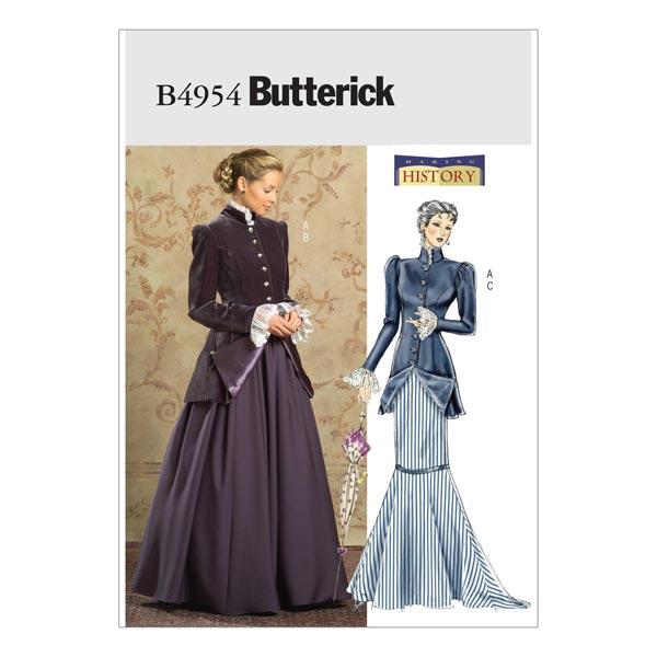 Historisches Kostüm, Butterick 4954 | 42 - 46 - Schnittmuster ...