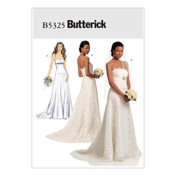 Hochzeitskleid, Butterick 5325 | 40 - 48 - Schnittmuster Kleid ...