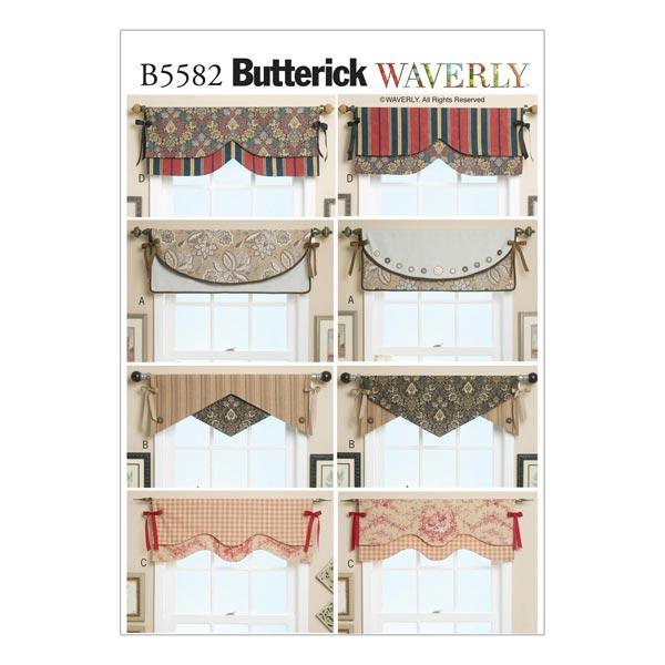 Fenster-Deko, Butterick 5582 - Schnittmuster Home- stoffe.de