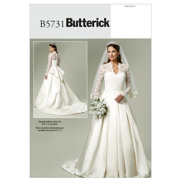 Brautkleid, Butterick 5731| 40 - 46 - Schnittmuster Brautkleid ...